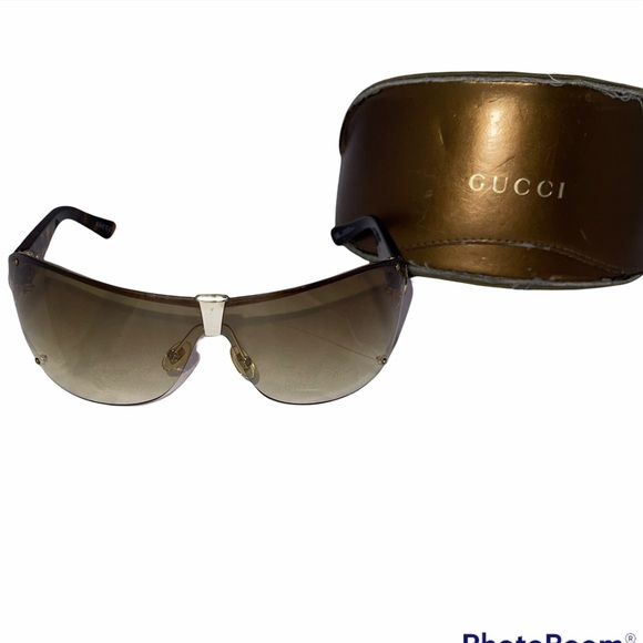 Gucci Sunglasses Authentic 2807/s Gold Frame Brown Lenses